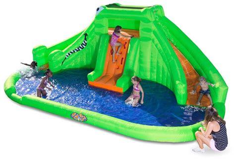 backyard inflatable water park crocodile isle is an inflatable water park for your backyard