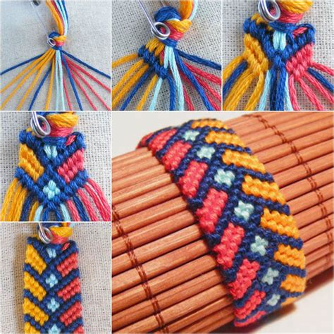 Make Macrame Knots - diy stylish square knot macrame bracelet macrame