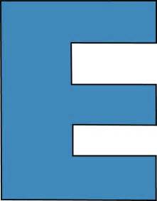 blue alphabet letter e clip blue alphabet letter e image