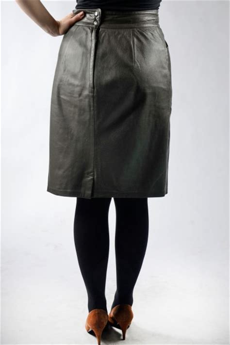 vintage 80s leather skirt clothing 21839