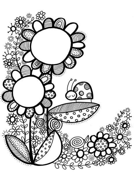flower doodle ai 188 best images about omalov 225 nky jaro on