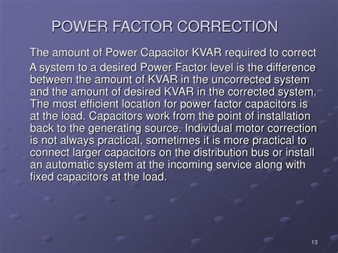 power factor correction kvar ppt power factor correction powerpoint presentation id 3035976