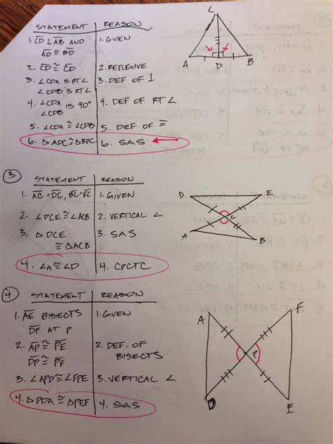 practice worksheet congruent triangles answers