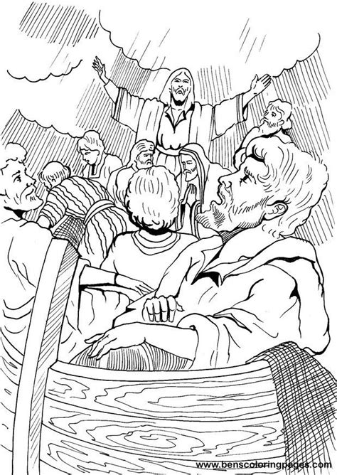 coloring page of jesus calming the sea jesus calms the storm colouring pages page 3 coloring home