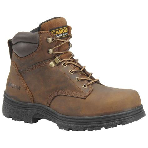 boots for mens work s carolina 174 svb 6 quot steel toe waterproof work boots