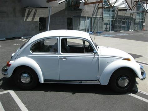 volkswagen bug white purchase used 1970 volkswagen beetle bug vw
