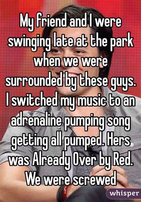 we were swinging song my friend and i were swinging late at the park when we