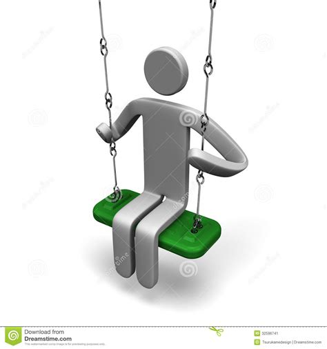 sit and swing person who sit on a swing stock image image 32596741