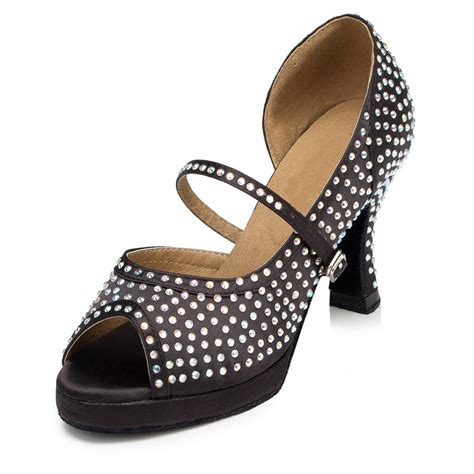 salsa shoes brand rhinestone s shoes peep toe high