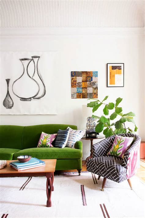 green couch living room emerald green sofa ideas for the living room