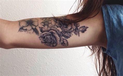 tattoo upper arm inside flowers tattoo tattoos pinterest
