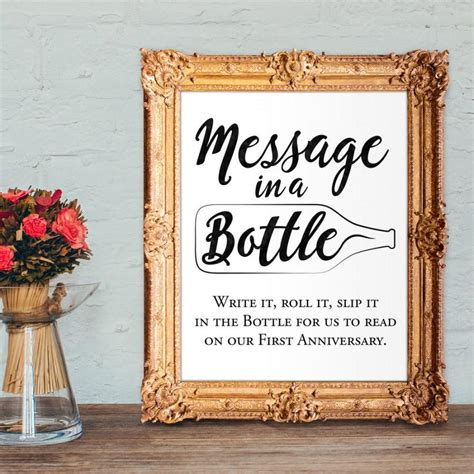 Wedding Message To Guests by Wedding Guest Book Sign Message In A Bottle Anniversary