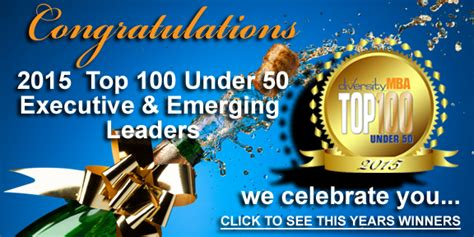 Diversity Mba Magazine Top 100 by Diversitymba Congratulates 2015 Top 100 50 Winners