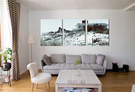 triptyque  hamptons  large wall art print