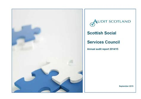 social services section 7 report scottish social services council annual audit 2014 15