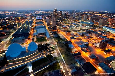 downtown kansas city skyline aerial photo set eric