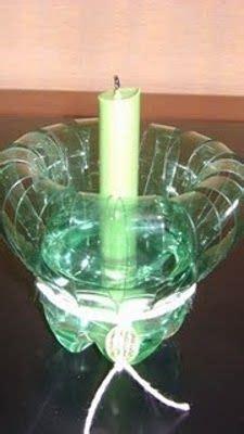 candelabros en botellas plasticas educacion ambiental candelabros reciclados de botellas