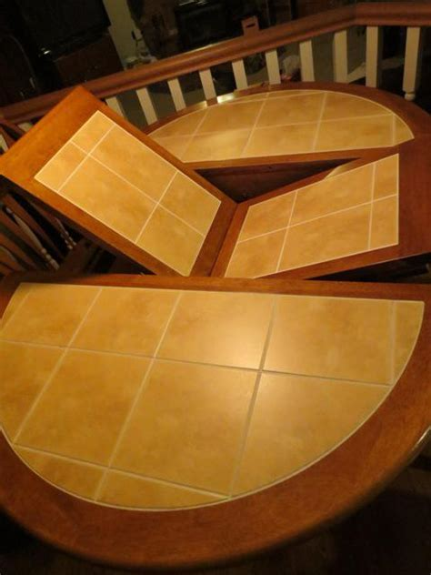 solid oak tile top kitchen table   chairs saanich