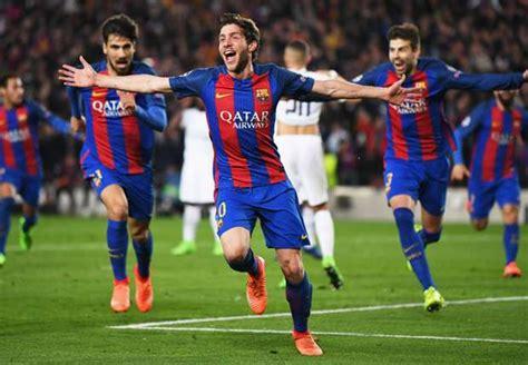 barcelona psg 6 1 rapor pemain barcelona 6 1 paris saint germain goal com