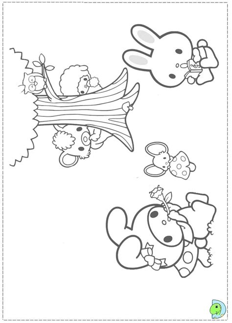 my melody coloring page az coloring pages