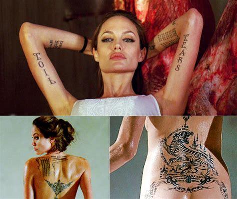 angelina jolie tattoo blut und eisen wm ist geritzt rantlos