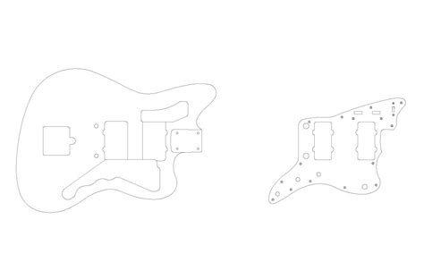 fender jazzmaster template fender jazzmaster guitar templates electric herald