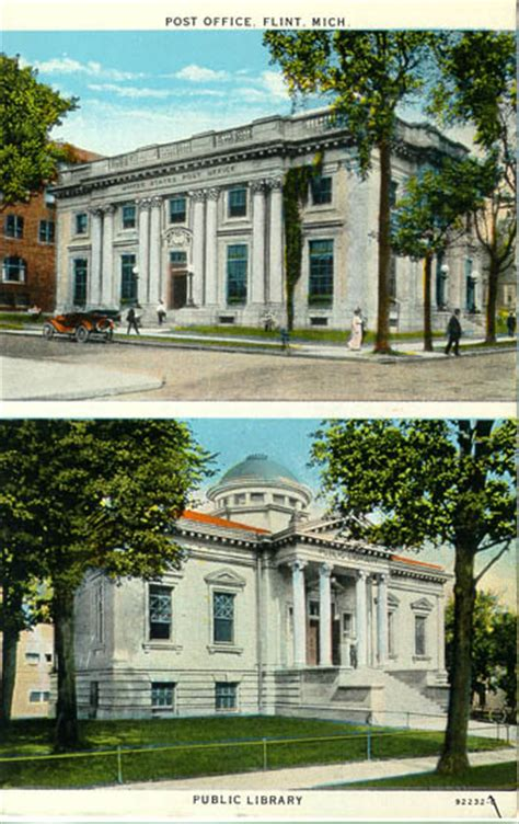 Flint Post Office by Postcards From Genesee County Michigan