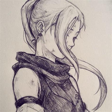 sketchbook anime adventurer character sketch