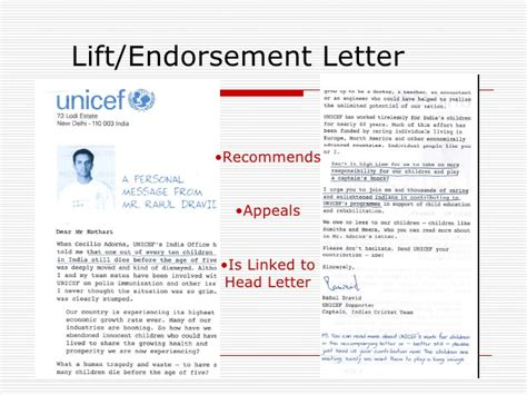charity endorsement letter direct mail exles