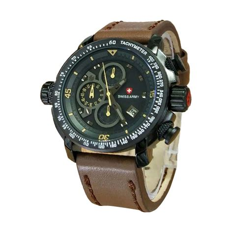 Jam Tangan Pria Swiss Army Chrono Active Brown jual swiss army sa2267dby jam tangan pria brown