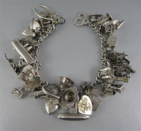 charm bracelet because vintage sterling silver charm bracelets tell stories