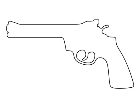 printable gun stencils revolver pattern use the printable outline for crafts