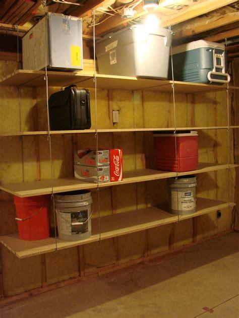 ceiling hanger shelves hang  joists  garage