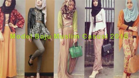 Baju Casual Wanita Muslimah contoh model baju muslim casual wanita terbaru 2016