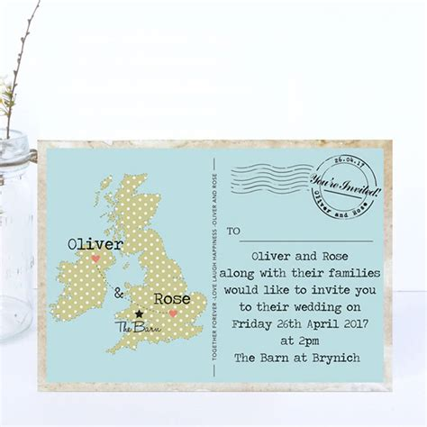 map wedding invitations uk map wedding invitations by paper and inc
