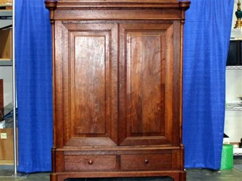 antique cherry armoire large antique cherry wood knockdown wardrobe armoire