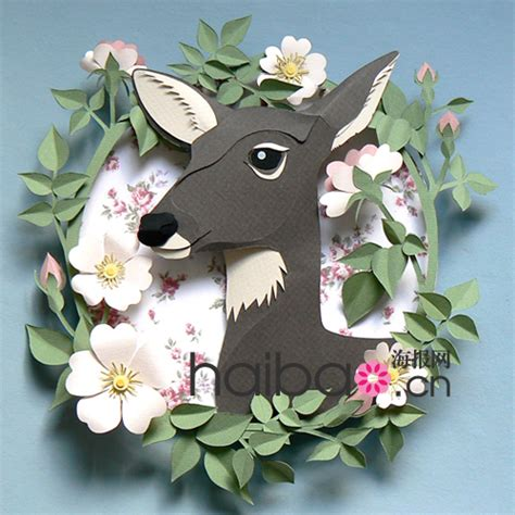 Paper Craft Artists - 最新图片 小鹿和羚羊在香草山上漫步 艺术家helen musselwhite的纸雕作品赏 精湛手工 215 绝妙创意传递