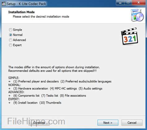 free download k lite codec pack update 1170 2015 11 18 t 233 l 233 charger k lite codec pack 13 65 full filehippo com