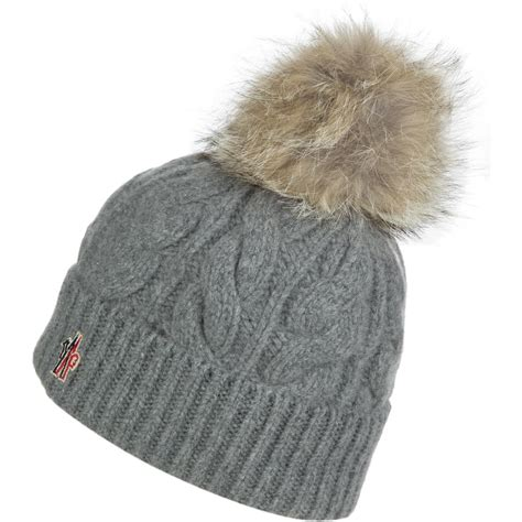 knit pom beanie moncler berretto cable knit pom beanie s