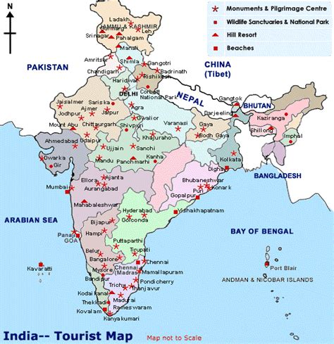 places to visit in map maps update 577687 tourist attractions map in india