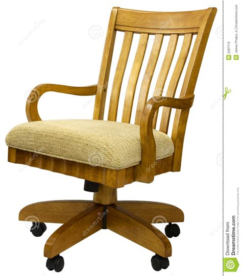 Oak Office Chair by Oak Office Chair Royalty Free Stock Image Image 2287116