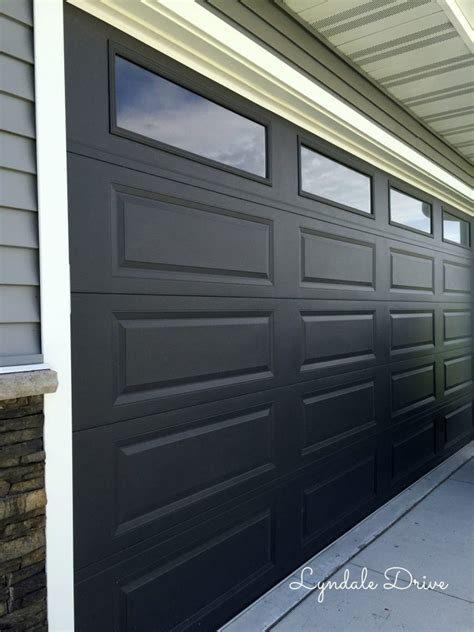 Black Garage Door Black Garage Doors With Windows For Black Garage Door