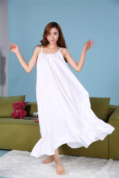 Pink Retro Sling S M L Casual Dress 43419 Plus Size Cotton Nightgowns Princess