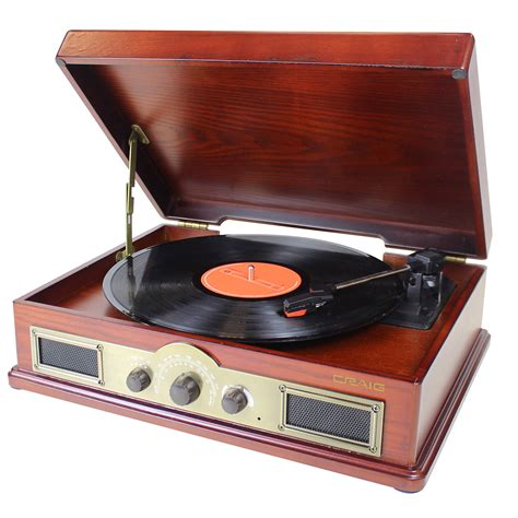 turn table 4 in 1 turntable speaker system with bluetooth wireless