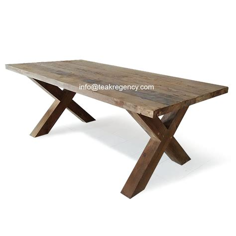 Tisch Teak Recycled by Recycled Teak Dining Table X Legs Erosion Teak Root Wood