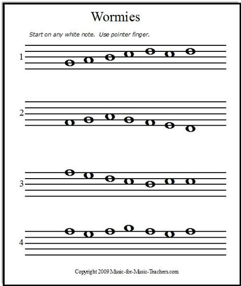 Beginner Piano Worksheets Printable Free