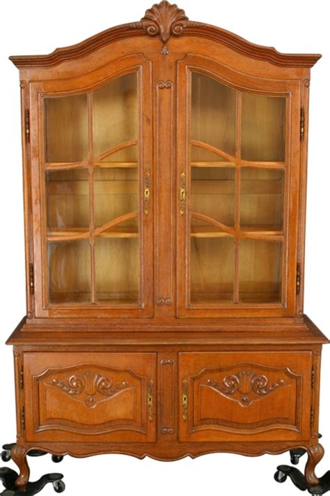 Country China Cabinet Hutch by Vintage Country Louis Xv China Cabinet Hutch Oak Ebay