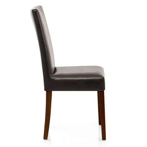 sedia pelle sedia chicago noce in ecopelle e legno