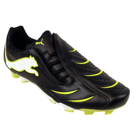mens black football boots mens powercat 3 10 fg firm ground black football