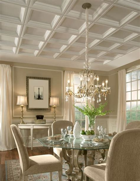 dining room ceilings 36 stylish and timeless coffered ceiling ideas for any